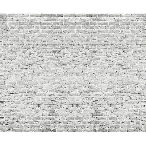 Click Props Backdrops Brick White Backdrop (8 x 9.8')