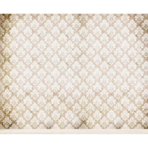 Click Props Backdrops Damask Distressed White Backdrop (8 x 9.8')