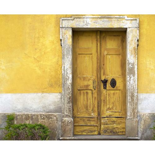 Click Props Backdrops Yellow Tuscan Door Backdrop (8 x 9.8')