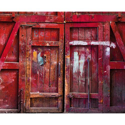 Click Props Backdrops Red Barn Door Backdrop (8 x 9.8')