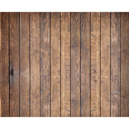 Click Props Backdrops Mahogany Plank Backdrop (8 x 9.8')