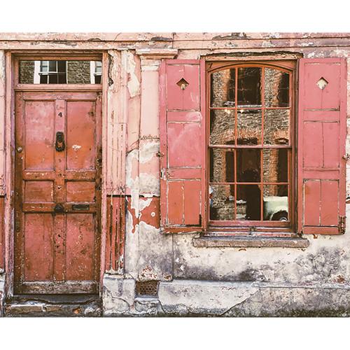 Click Props Backdrops Urban Red Door Backdrop (8 x 9.8')