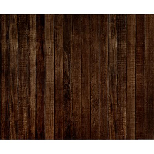 Click Props Backdrops Dark Brown Wood Backdrop (8 x 9.8')