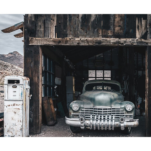 Click Props Backdrops Truck In Hut Backdrop (8 x 9.8')