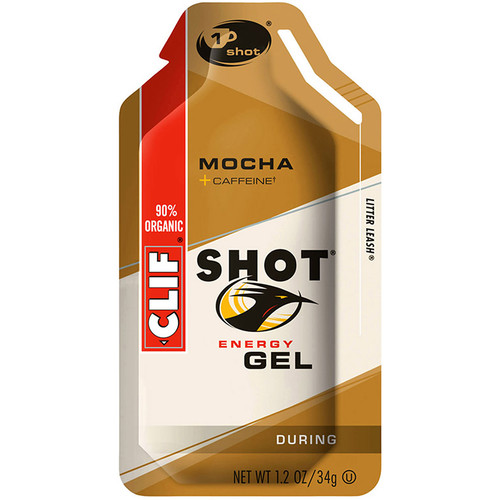 Clif Bar Shot Energy Gel (Mocha, 24-Pack)