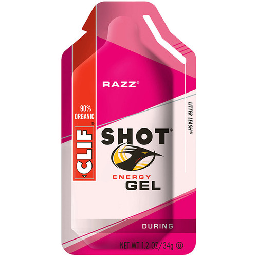 Clif Bar Shot Energy Gel (Razz, 24-Pack)