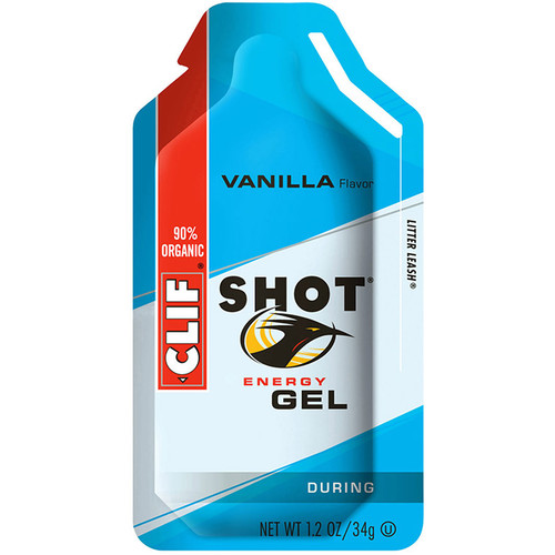Clif Bar Shot Energy Gel (Vanilla, 24-Pack)