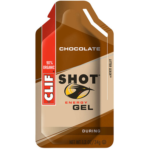 Clif Bar Shot Energy Gel (Chocolate, 24-Pack)