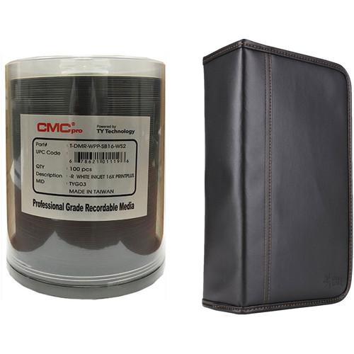 CMC Pro 4.7GB DVD-R Print Plus 16x Disc Kit with 100-Capacity Disc Wallet