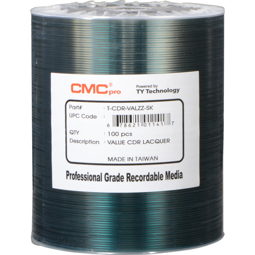 CMC Pro 700MB CD-R Value Shiny Silver 48x Discs (100-Pack)