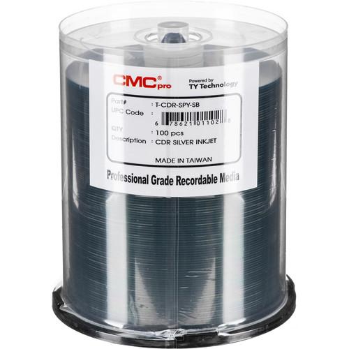 CMC Pro CD-R 48x Silver Inkjet Printable Disc (100-Pack Cakebox)