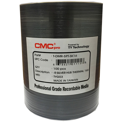 CMC Pro DVD-R 4.7GB 16x Silver Everest Thermal Hub-Printable Discs (100-Pack)