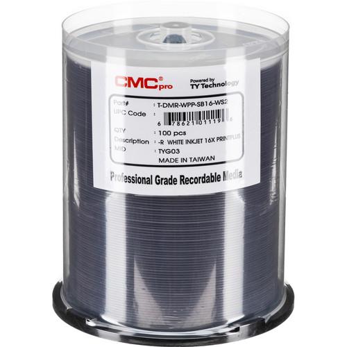 CMC Pro 4.7GB DVD-R Print Plus 16x Discs (100-Pack)