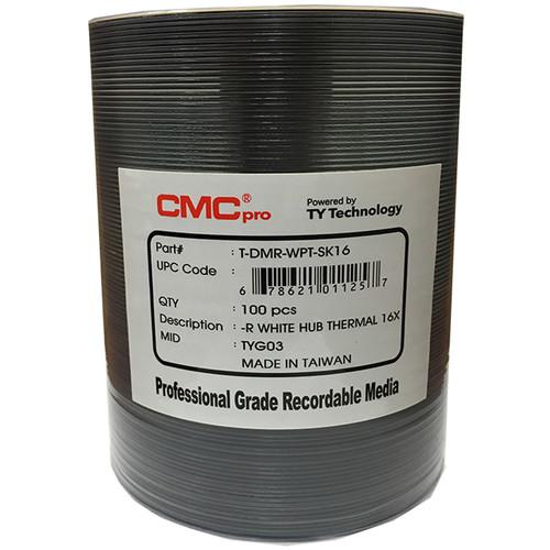 CMC Pro DVD-R 4.7GB 16x White HardCoat Everest Thermal Printable Discs (100-Pack)