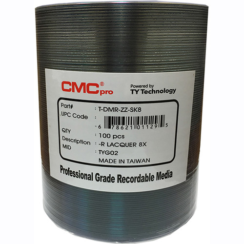 CMC Pro DVD-R 4.7GB 8x Silver Thermal Lacquer Inkjet Printable Disc (100-Pack Spindle)