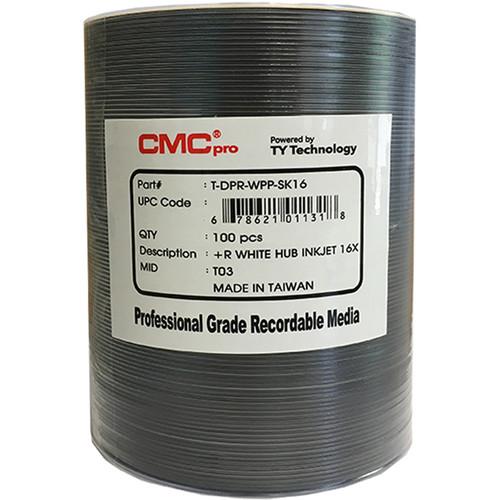 CMC Pro DVD+R 16x White Inkjet Hub-Printable Discs (100-Pack)
