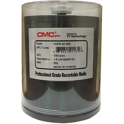 CMC Pro DVD+R 4.7GB 8x Shiny Silver Lacquer Printable Discs (Spindle Pack of 100)