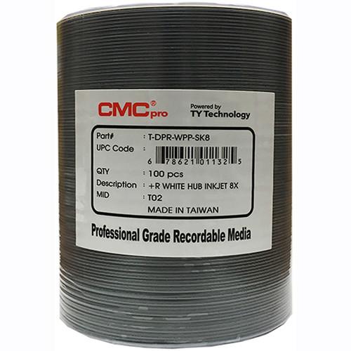 CMC Pro DVD+R 4.7GB 8x White Inkjet Hub Printable Disc (100-Pack Tape Wrap)