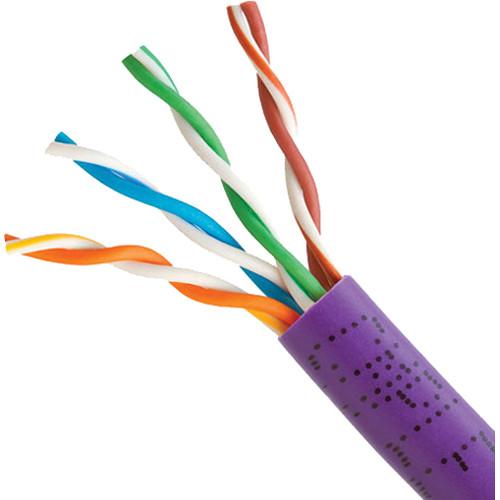 Cmple Cat 5e Bulk Ethernet LAN Network Cable (1000' / Purple / Pull Box)