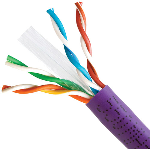 Cmple Category 6 Bulk Ethernet LAN Network Cable (Pull Box, 1000', Purple)