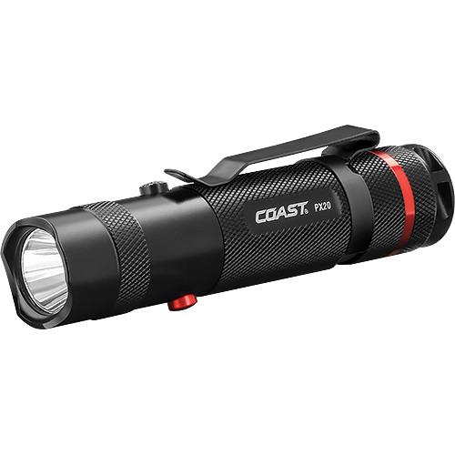 COAST PX20 Bull's-Eye Spot Beam White/Red LED Flashlight
