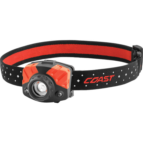 COAST FL65 Dual-Color Wide Angle Flood Beam LED Headlamp (Clamshell Packaging)