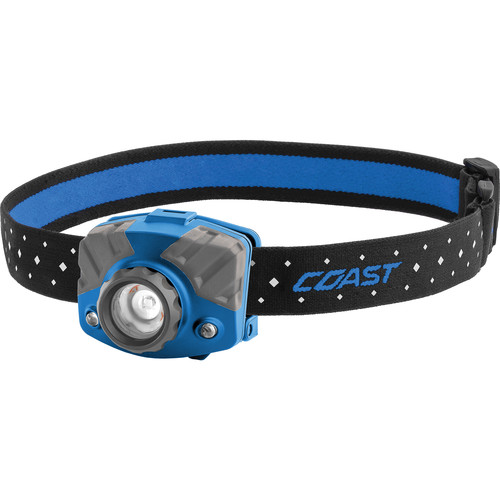COAST FL75R Dual-Color Pure Beam Focusing Rechargeable LED Headlamp (Blue/Gray)