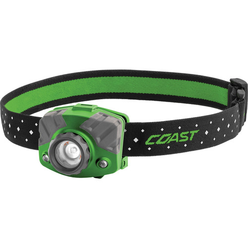 COAST FL75R Dual-Color Pure Beam Focusing Rechargeable LED Headlamp (Green/Gray)