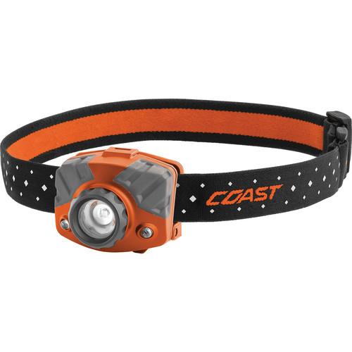 COAST FL75R Dual-Color Pure Beam Focusing Rechargeable LED Headlamp (Orange/Gray)