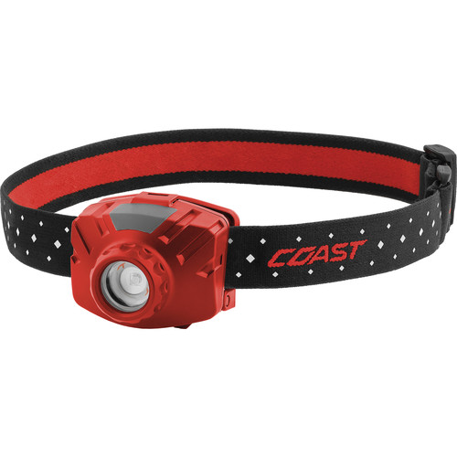 COAST FL60R Wide-Angle Flood Beam Rechargeable LED Headlamp (Red)