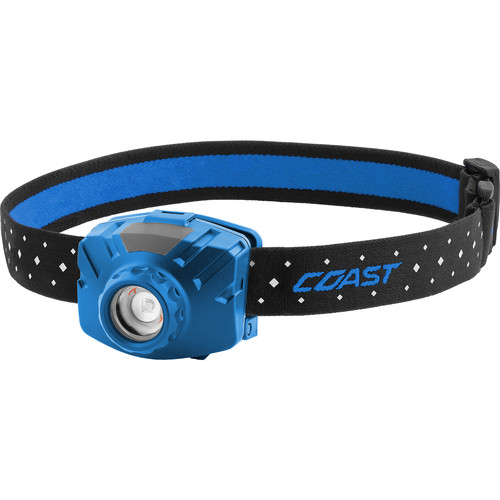 COAST FL60R Wide-Angle Flood Beam Rechargeable LED Headlamp (Blue)