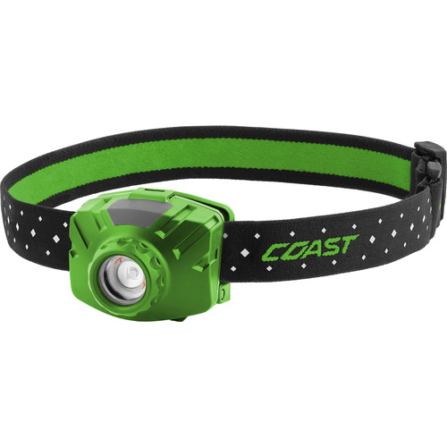 COAST FL60R Wide-Angle Flood Beam Rechargeable LED Headlamp (Green)