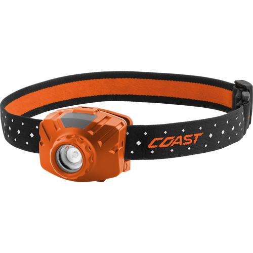 COAST FL60R Wide-Angle Flood Beam Rechargeable LED Headlamp (Orange)