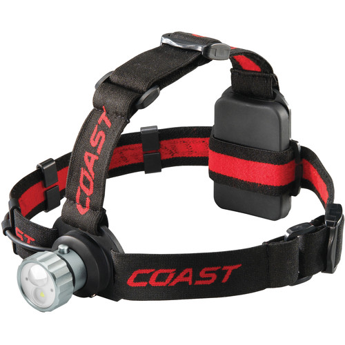 COAST HL45 Dual-Color Wide Angle Flood Beam Headlamp with Hinged Beam