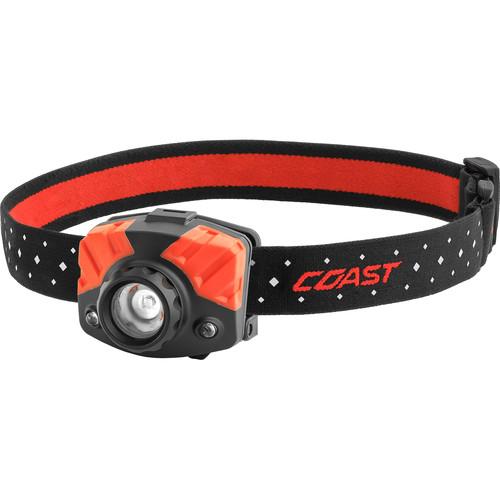 COAST FL75 Dual-Color Pure Beam Focusing LED Headlamp (Black/Red)