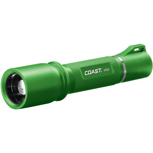 COAST HP5R Long Distance Focusing Rechargeable LED Flashlight (Green)