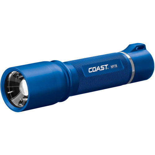 COAST HP7R Long Distance Focusing Rechargeable LED Flashlight (Blue)