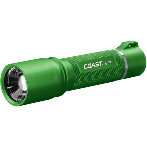 COAST HP7R Long Distance Focusing Rechargeable LED Flashlight (Green)