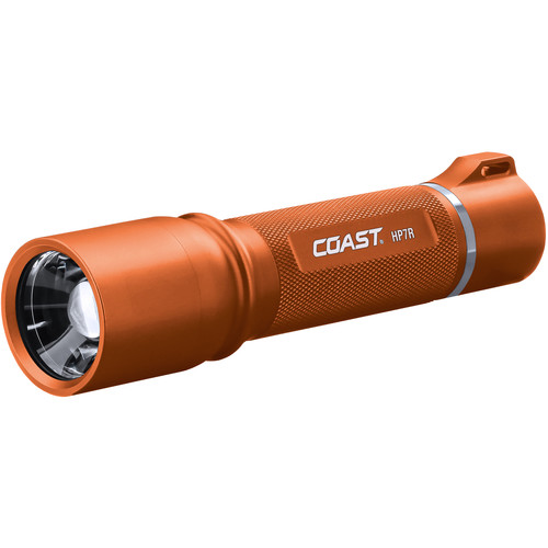 COAST HP7R Long Distance Focusing Rechargeable LED Flashlight (Orange)