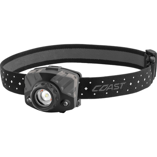 COAST FL68 Multi-Color Wide-Angle Flood Beam Headlamp (Black, Sporting Goods Clamshell Packaging)