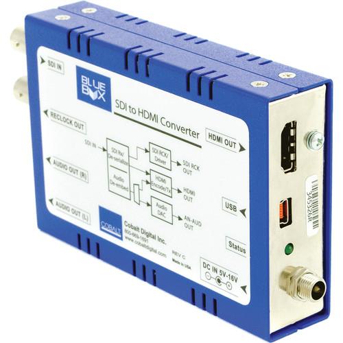Cobalt Blue Box Group SDI to HDMI Converter