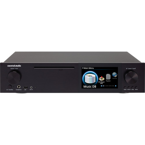 cocktailaudio X40 DSD and DXD Audio DAC and CD Player with Hard Drive Recording (Black)