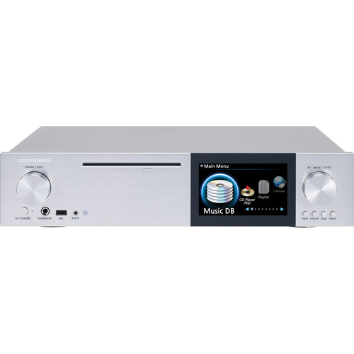 cocktailaudio X40 DSD and DXD Audio DAC and CD Player with Hard Drive Recording (Silver)