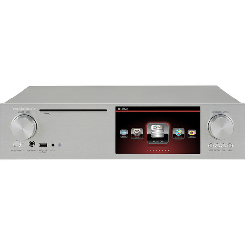 """cocktailaudio X35 CD Ripper, Music Server, and Amplifier with 7"""" Display (Silver)"""