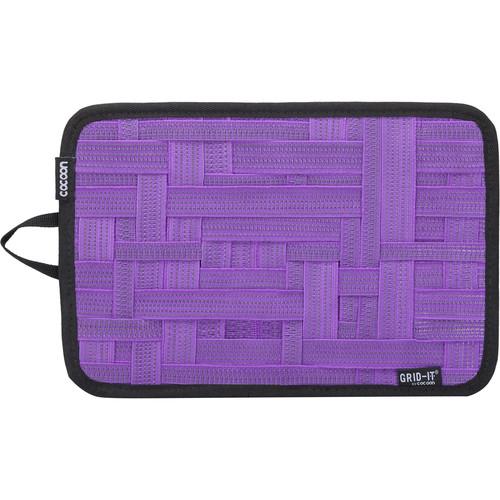 "Cocoon GRID-IT! Medium Configurable Organizer for Laptop Bags & Travel Cases (12 x 8"", Purple)"