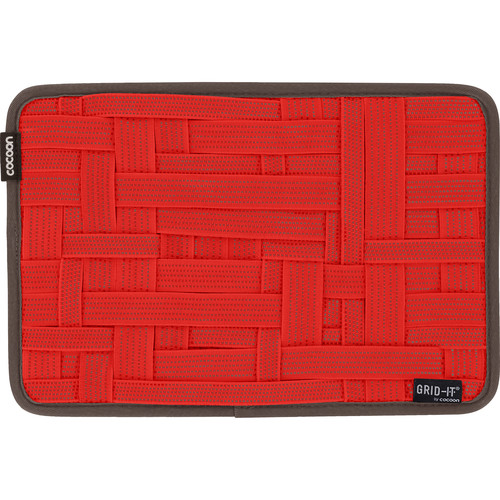 """Cocoon GRID-IT! Medium Configurable Organizer for Laptop Bags & Travel Cases (12 x 8"""", Racing Red)"""