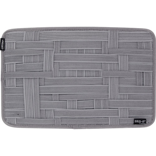 """Cocoon GRID-IT! Large Configurable Organizer for Laptop Bags & Travel Cases (9.6 x 15.1"""", High-Rise Gray)"""