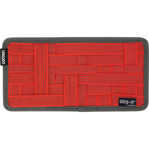 """Cocoon GRID-IT! Small Configurable Organizer for Laptop Bags & Travel Cases (10.3 x 5.1"""", Racing Red)"""