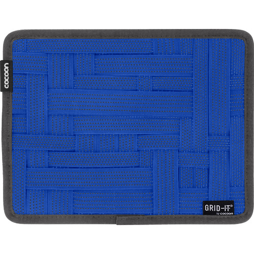 """Cocoon GRID-IT! Small Configurable Organizer for iPad Case (7.25 x 9.25"""", Royal Blue)"""