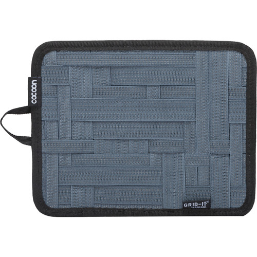 "Cocoon GRID-IT! Small Configurable Organizer for iPad Case (7.25 x 9.25"", Slate Gray)"